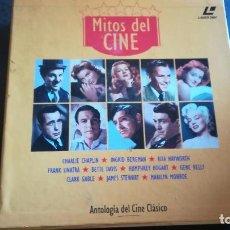 Cine: CAJA LOTE 10 LÁSER DISC MITOS DEL CINE. EL GOLPE, MOGAMBO, CASABLANCA, GILDA. Lote 193377830
