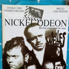 Cine: REVISTA DE CINE NICKEL ODEON Nº 16 ORSON WELLES. Lote 193381332