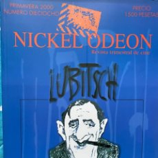 Cine: REVISTA DE CINE NICKEL ODEON Nº 18 LUBITSCH. Lote 193381747