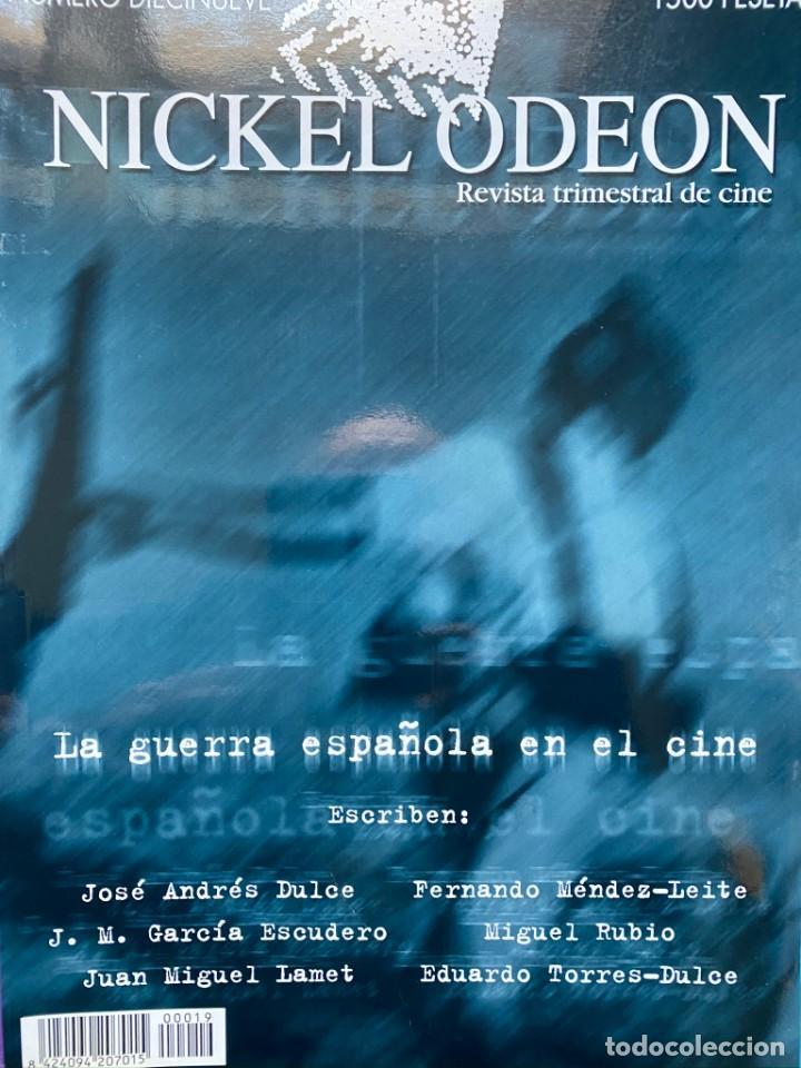 REVISTA DE CINE NICKEL ODEON Nº 19 LA GUERRA DE ESPAÑA EN EL CINE (Cine - Revistas - Otros)