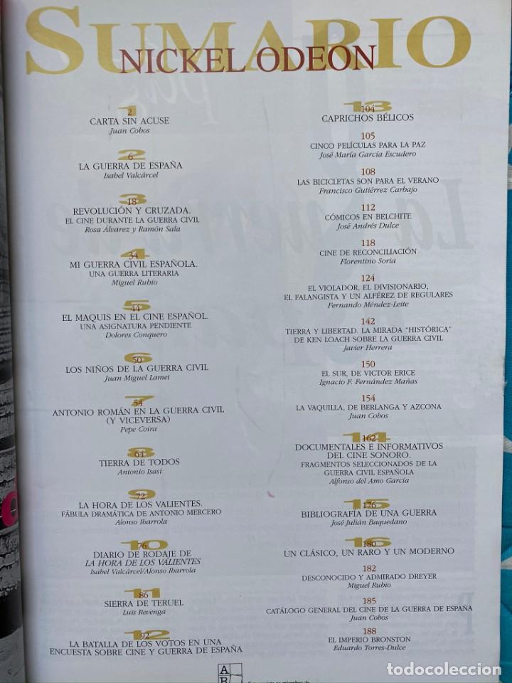 Cine: REVISTA DE CINE NICKEL ODEON Nº 19 LA GUERRA DE ESPAÑA EN EL CINE - Foto 2 - 193381847