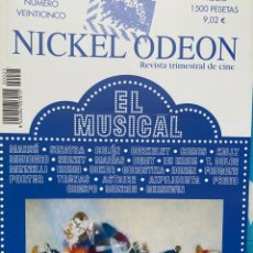 Cine: REVISTA DE CINE NICKEL ODEON Nº 25 EL MUSICAL. Lote 193382377