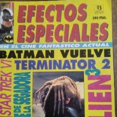Cinema: EFECTOS ESPECIALES EN EL CINE FANTASTICO ACTUAL- MONOGRAFICO ZINCO- TERMINATOR 2- BATMAN VUELVE- ALI. Lote 193405278