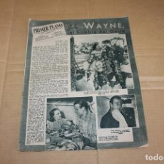 Cine: PRIMER PLANO Nº 400, CON JOHN WAYNE. Lote 193408311