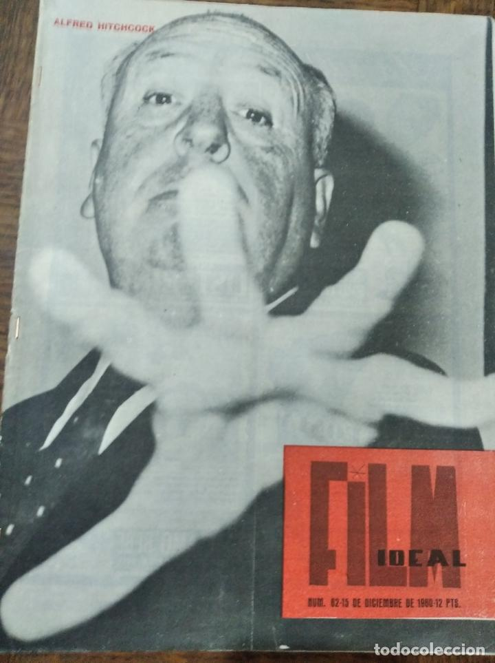 FILM IDEAL Nº 62 DE 1960- ALFRED HITCHCOCK- ALBERTO CAVALCANTI- CLARK GABLE- JORGE FELIU- HIROSHIMA. (Cine - Revistas - Film Ideal)