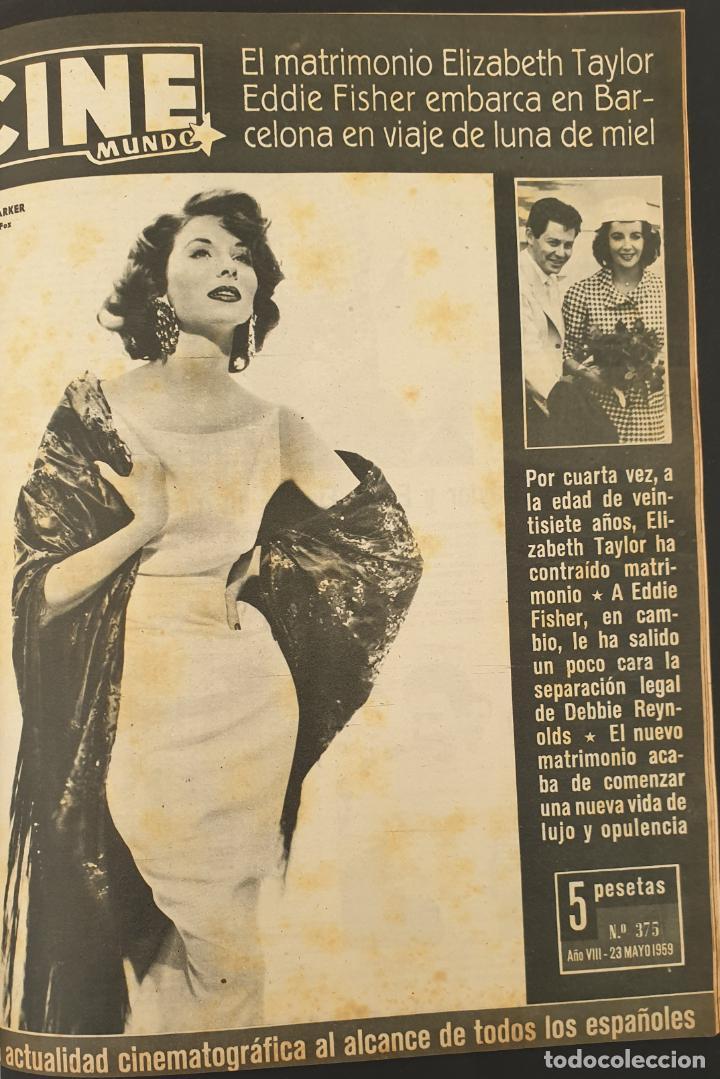 REVISTA CINE MUNDO 1959 SUZY PARKER LIZ TAYLOR BRIGITTE BARDOT FESS PARKER LA CASA DE TROYA (Cine - Revistas - Otros)