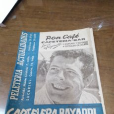 Cine: CARTELERA BAYARRI, PORTADA DE MARCELLO MASTROIANNI,N-362,AÑO 1963. Lote 193555555