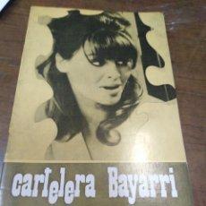 Cine: CARTELERA BAYARRI, PORTADA DE JULIE CHRISTIE, N-626,AÑO 1968. Lote 193556170
