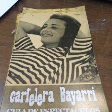 Cine: CARTELERA BAYARRI, PORTADA DE JANNE MOREAU, N-620,AÑO 1968. Lote 193556266
