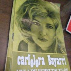 Cine: CARTELERA BAYARRI, PORTADA DE MONICA VITI, N-605,AÑO 1968. Lote 193556841