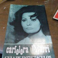 Cine: CARTELERA BAYARRI, PORTADA DE SOFÍA LOREN, N-625,AÑO 1968. Lote 193557045
