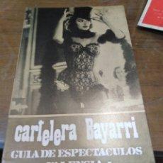 Cine: CARTELERA BAYARRI, PORTADA DE ANOUK AIME, N-616,AÑO 1968. Lote 193557291