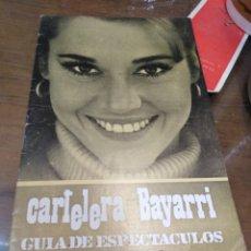 Cine: CARTELERA BAYARRI, PORTADA DE JANE FONDA, N-612,AÑO 1968. Lote 193557716