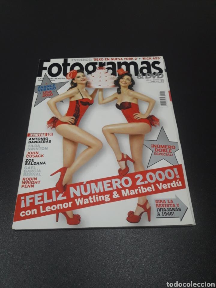 FOTOGRAMAS N° 2.000. JUNIO 2010. LEONOR WATLING Y MARIBEL VERDÚ. (Cine - Revistas - Fotogramas)