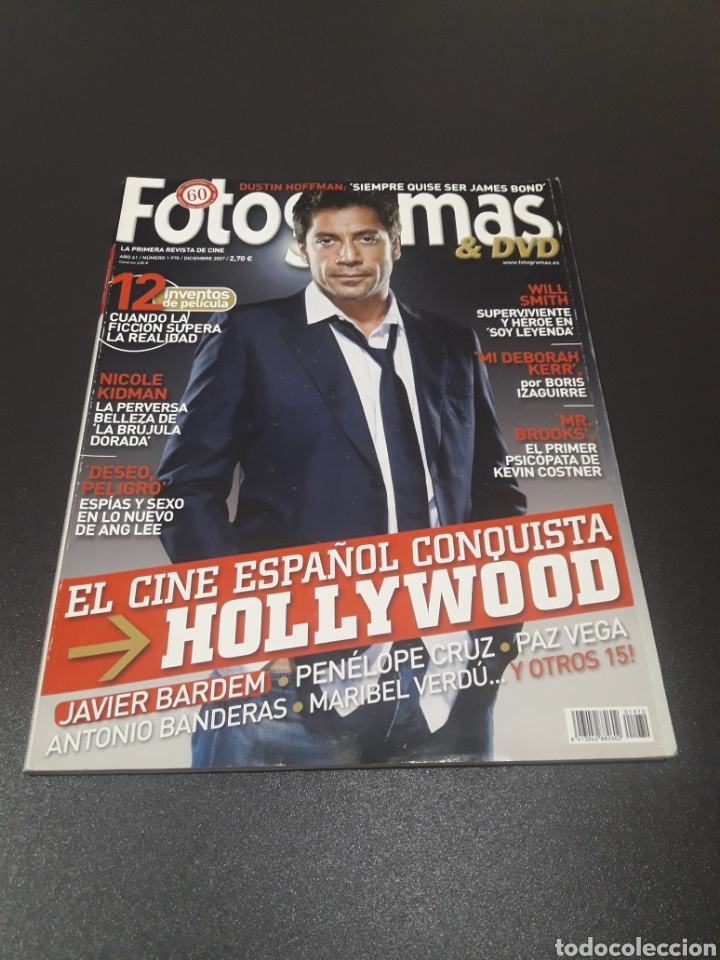 FOTOGRAMAS N° 1.970. DICIEMBRE 2007. JAVIER BARDEM, PENÉLOPE CRUZ Y ANTONIO BANDERAS. (Cine - Revistas - Fotogramas)