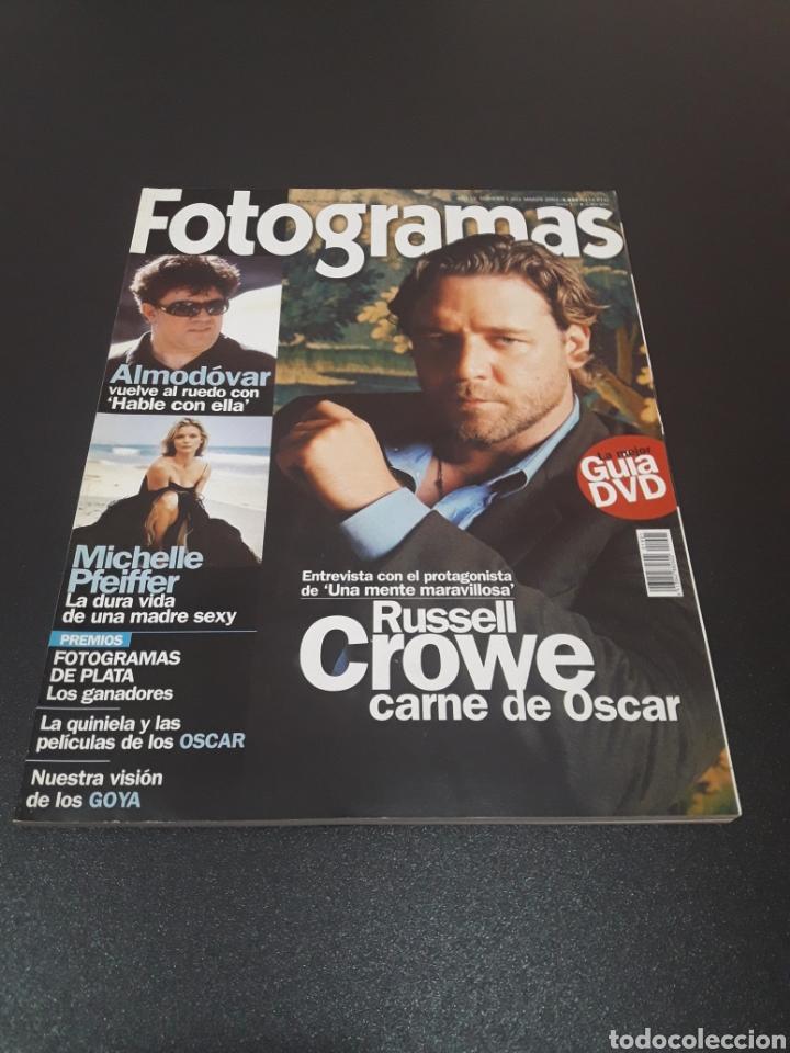 FOTOGRAMAS N° 1.901. MARZO 2002. RUSSELL CROWE. (Cine - Revistas - Fotogramas)