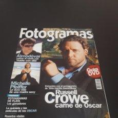 Cine: FOTOGRAMAS N° 1.901. MARZO 2002. RUSSELL CROWE.. Lote 193909197