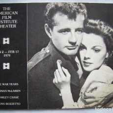 Cine: REVISTA THE AMERICAN FILM INSTITUTE THEATER. 17 X 23,5 CMS. 1979. 48 PÁGINAS EN INGLÉS.. Lote 193984482