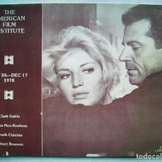 Cine: REVISTA THE AMERICAN FILM INSTITUTE THEATER. 17 X 23,5 CMS. 1978. 44 PÁGINAS EN INGLÉS.. Lote 193984548