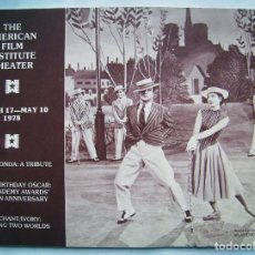 Cine: REVISTA THE AMERICAN FILM INSTITUTE THEATER. 17 X 23,5 CMS. 1978. 44 PÁGINAS EN INGLÉS.. Lote 193984596