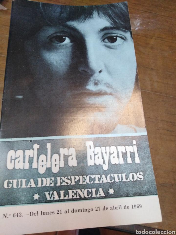 CARTELERA BAYARRI, PORTADA DE PAUL MC,CARTHY, N-643,AÑO 1969. THE BEATLES (Cine - Revistas - Otros)