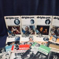 Cinema: 12 REVISTAS DIRIGIDO POR REVISTA CINE DIRECTORES PECKINPAH WELLES FELLINI CHABROL KUBRICK 1972 74. Lote 194059200