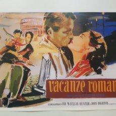 Cine: AUDREY HEPBURN - VACACIONES EN ROMA. CARTEL DE CINE CLASICO, LITOGRAFICO. REPROGRAFIA.. Lote 194143601