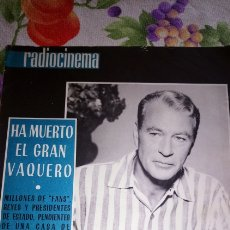 Cine: GARY COOPER Y CONTRA PORTADA SOFIA LOREN 1961. Lote 194194666