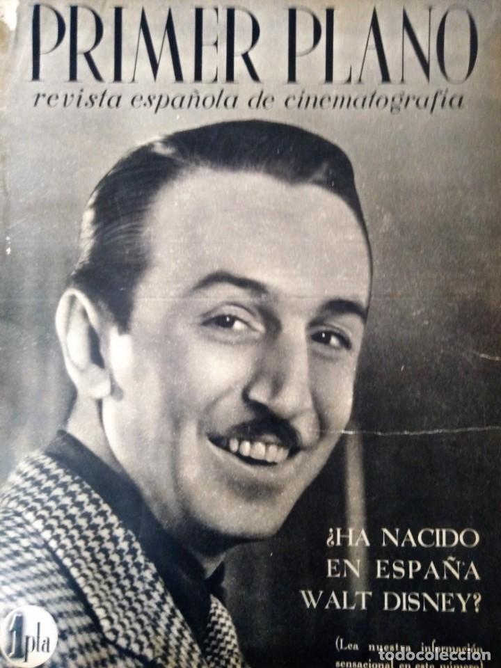 REVISTA PRIMER PLANO 1940 Nº 2 WALT DISNEY (Cine - Revistas - Primer plano)