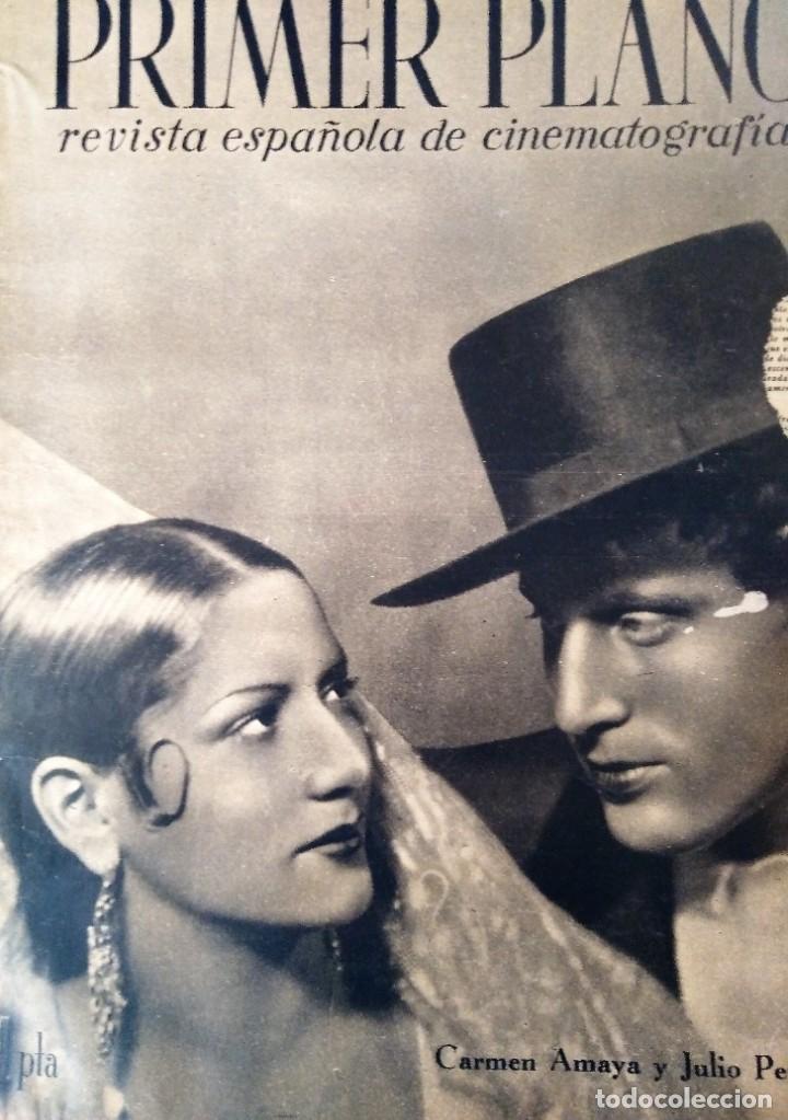 REVISTA PRIMER PLANO 1940 Nº 4 CARMEN AMAYA (Cine - Revistas - Primer plano)