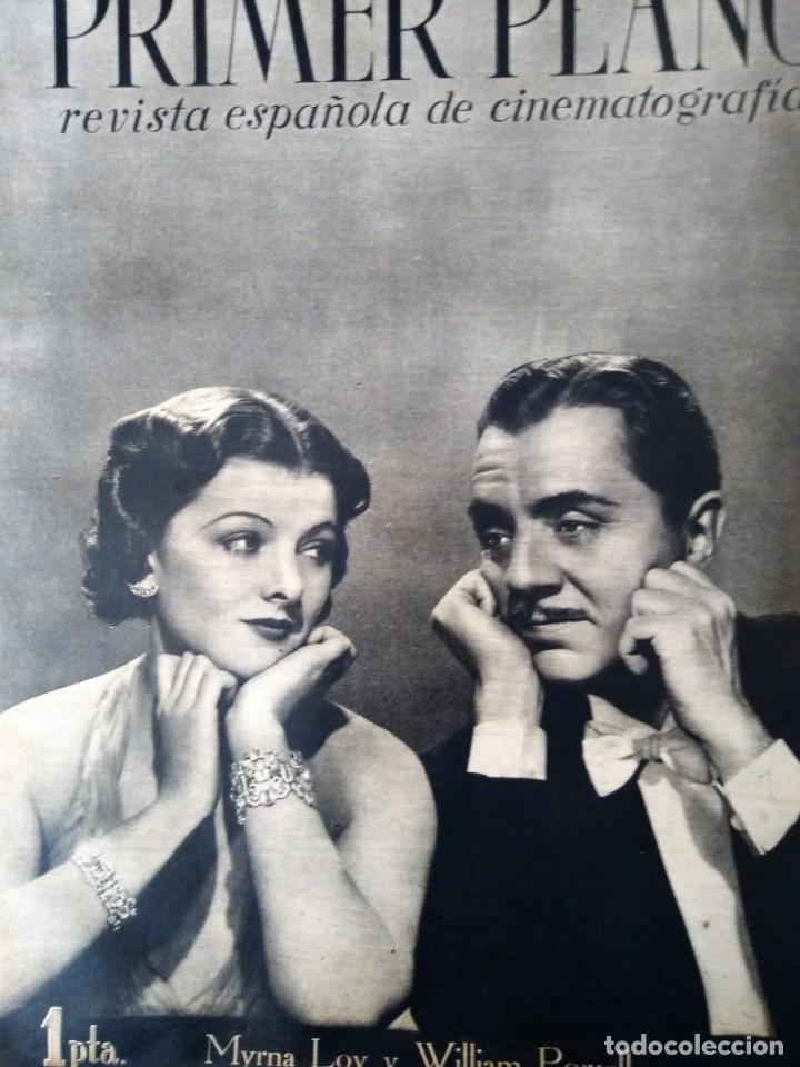 REVISTA PRIMER PLANO 1940 Nº 7 MYRNA LOY (Cine - Revistas - Primer plano)