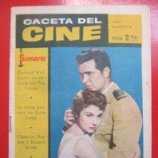 Cine: REVISTA GACETA DEL CINE Nº8 JAMES GARNER. Lote 194406460