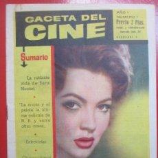Cine: REVISTA GACETA DEL CINE Nº 1 SARA MONTIEL EN MI ULTIMO TANGO. Lote 194406495