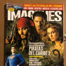 Cinema: IMÁGENES DE ACTUALIDAD N° 260 (2006). JOHNNY DEPP, GORE VREBINSKI, BRANDON ROUTH,.... Lote 194522543