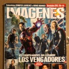 Cine: IMÁGENES DE ACTUALIDAD N° 323 (2012). LOS VENGADORES, JENNIFER LAWRENCE, ARMIE HAMMER,.... Lote 194530157