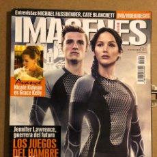 Cine: IMÁGENES DE ACTUALIDAD N° 340 (2013). LOS JUEGOS DEL HAMBRE, MICHAEL FASSVENDER, JENNIFER LAWRENCE. Lote 194530516
