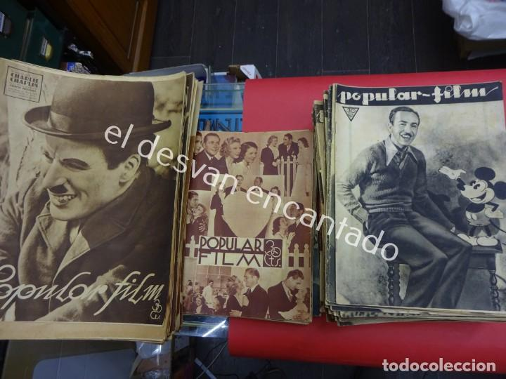 POPULAR FILM. LOTE 150 REVISTAS AÑOS 1930S. DIFERENTES FOMATOS. IDEAL CINÉFILOS (Cine - Revistas - Popular film)