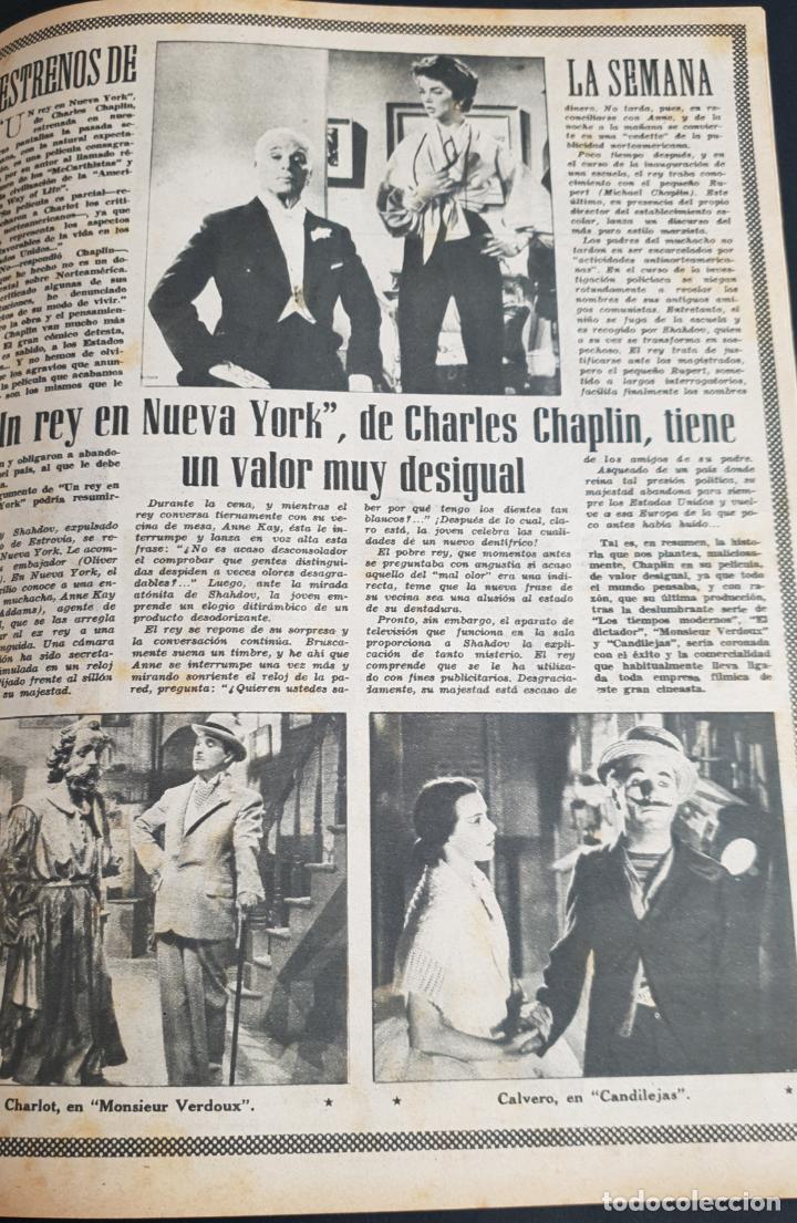 Cine: REVISTA CINE MUNDO 1958 JOANNA MOORESMAS JAYNE MANSFIELD CHARLES CHAPLIN DIANA DORS JANET LEIGH BRIG - Foto 3 - 194895465