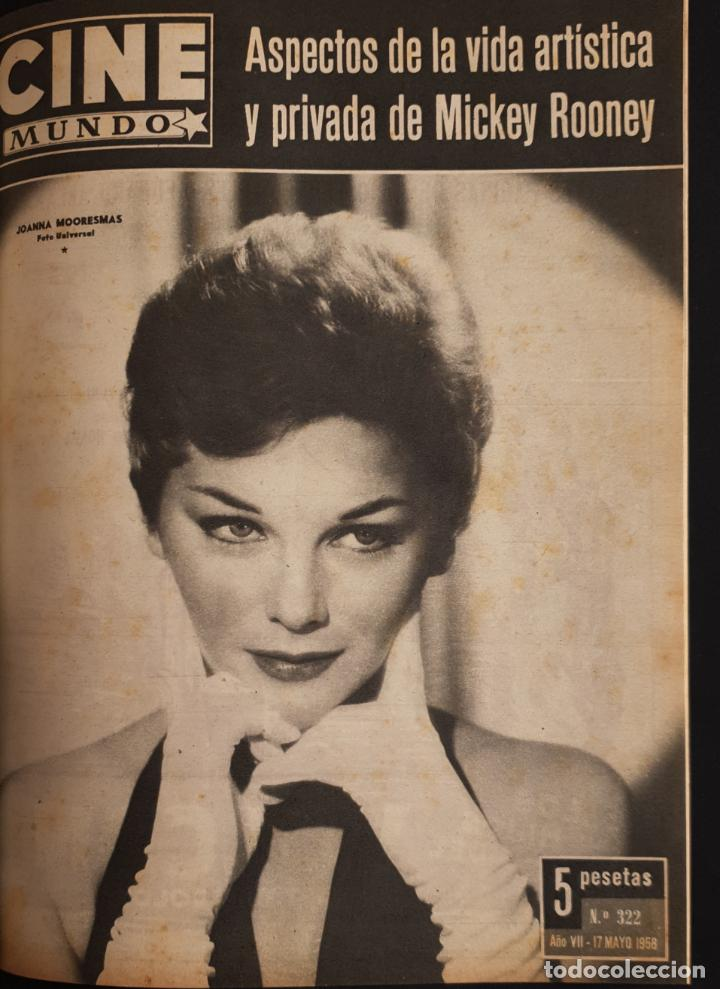 REVISTA CINE MUNDO 1958 JOANNA MOORESMAS JAYNE MANSFIELD CHARLES CHAPLIN DIANA DORS JANET LEIGH BRIG (Cine - Revistas - Otros)