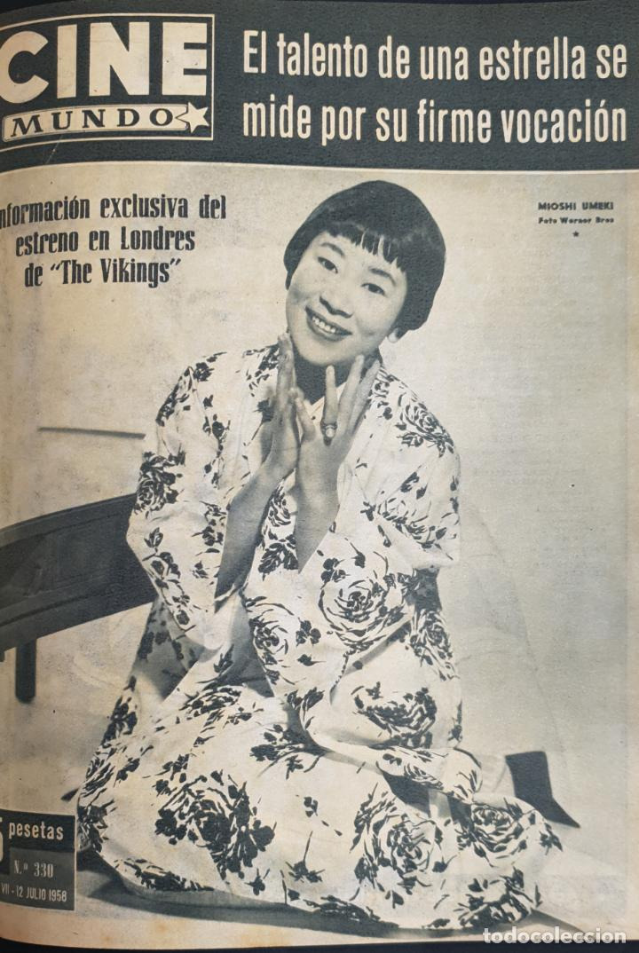 REVISTA CINE MUNDO 1958 MIOSHI UMERI JOSELITO SOPHIA LOREN LOS VIKINGOS TAB HUNTER MARLENE DIETRICH (Cine - Revistas - Otros)