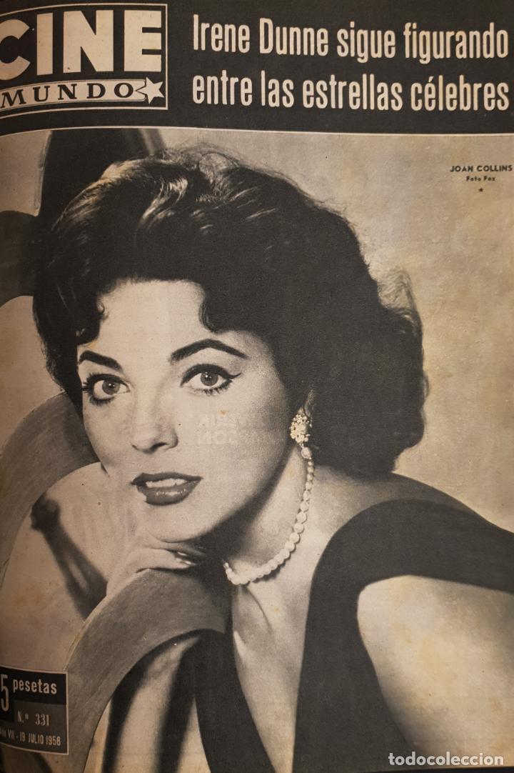 REVISTA CINE MUNDO 1958 JOAN COLLINS GINA LOLLOBRIGIDA LOS VIKINGOS JOANNE WOODWARD (Cine - Revistas - Otros)