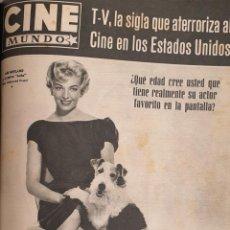 Cine: REVISTA CINE MUNDO 1958 ANE NEYLAND JOSELITO ROCK HUDSON ALIDA VALLI DINA MERRILL. Lote 194897866
