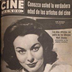 Cine: REVISTA CINE MUNDO 1958 ANNE HEYWOOD PAUL NEWMAN ROMY SCHNEIDER WALT DISNEY GINA LOLLOBRIGIDA. Lote 194912023