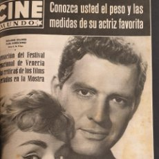 Cine: REVISTA CINE MUNDO 1958 SUSANNE CRAMER PAUL HUBSCHMID TYRONE POWER JUDY GARLAND JOANNE WOODWARD. Lote 194912272