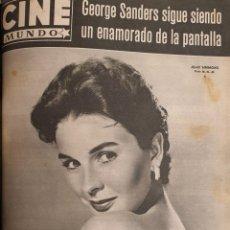 Cine: REVISTA CINE MUNDO 1958 JEAN SIMMONS GEORGE SANDERS DORIS DAY MYLENE DEMONGEOT CHRISTINE CARRERE. Lote 194912417