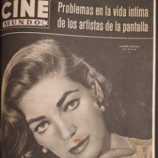 Cine: REVISTA CINE MUNDO 1958 LAUREN BACALL GINA LOLLOBRIGIDA BRIGITTE BARDOT JAMES DEAN LOREN ABBE LANE. Lote 194912723