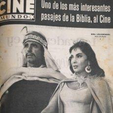 Cine: REVISTA CINE MUNDO 1958 GINA LOLLOBRIGIDA TYRONE POWER JOSELITO TESTIGO DE CARGO LOLA FLORES TONY . Lote 194912881