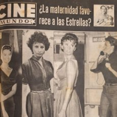 Cine: REVISTA CINE MUNDO 1958 SOPHIA LOREN GINA LOLLOBRIGIDA DIANA DORS BARBARA LANG ROMY SCHNEIDER. Lote 194913123