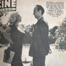 Cine: REVISTA CINE MUNDO 1958 MARIA MARTIN JUANJO MENENDEZ MARILYN MONROE CLARK GABLE HOWARD KEEL MAY BRIT. Lote 194913908