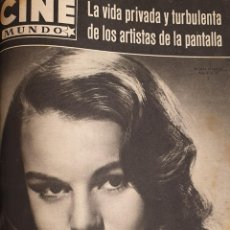 Cine: REVISTA CINE MUNDO 1958 MYRNA HANSEN INGRID BERGMAN DEBORAH KERR ETCHINA CHOUREAU. Lote 194914297
